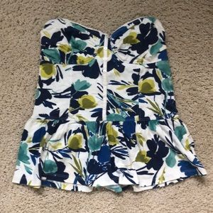 Gilly Hicks Floral Tube Top